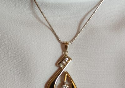 The beautiful necklace
