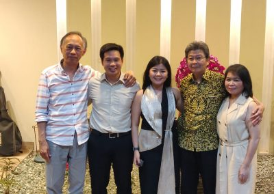 With the parents