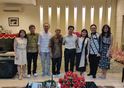 With the parents and pastors