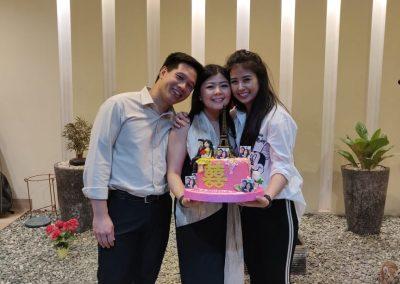 With the cake creator (Marhensia's friend)