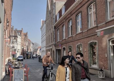 Walking in Bruges